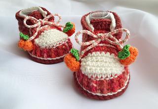a385c66772fb8 Baby Pumpkin Shoes pattern by Crochet Oasis