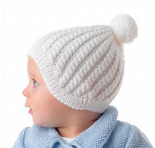 590d7223a97 patterns   Creative Knitting Australia   Creative Knitting 57 (Australia).    Cabled Baby Bonnet