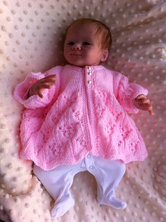 711ea2cdefaa Ravelry  Katie Matinee Jacket Knitting Pattern o fit 0-3 mth Baby or a ...