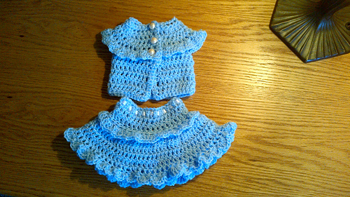 Ravelry: Ruffled Sleeveless Sweater & Skirt - 18-inch Dolls pattern ...
