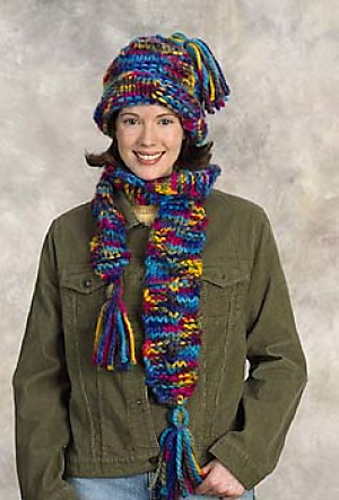 Ravelry Beginners Hat And Scarf Set Scarf Pattern By Lion Brand Yarn