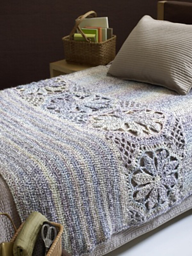 Magnolia Afghan Free Crochet Pattern Pattern Forest
