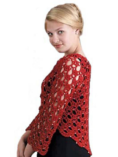 Ravelry: Romantic Bolero with Pearls pattern by Doris Chan