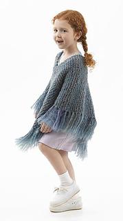 Ravelry: Downtown Tot Poncho (knit) pattern by Lion Brand Yarn