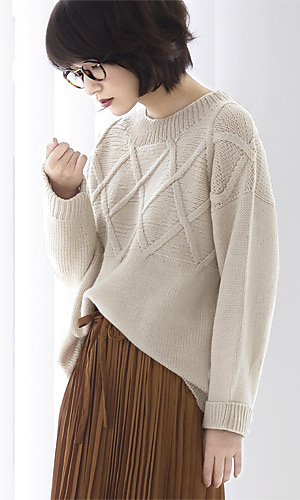 Ravelry 216w 03 Cross Pattern Sweater Pattern By Pierrot Gosyo Co