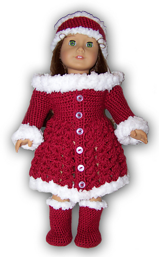 American Girl Or 18 Doll Holiday Outfit Pattern By Danielle Bonacquisti