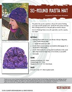 Ravelry  30-Round Rasta Hat pattern by Elizabeth Green Musselman 96501394271
