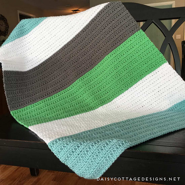 Ravelry Color Block Baby Blanket Pattern By Lauren Brown