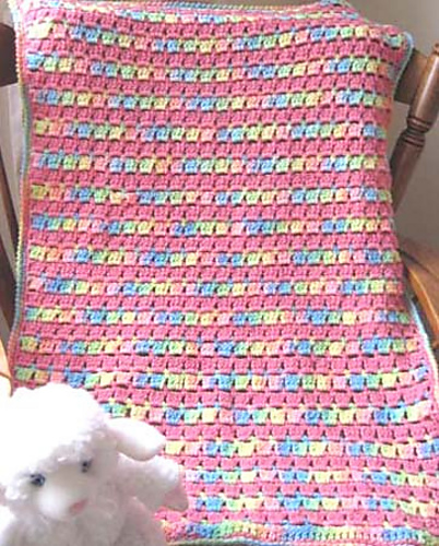 Ravelry Block Stitch Baby Blanket Pattern By Kathy North