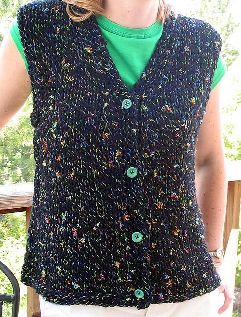 Ravelry Easy Knit Vest Pattern By Kathy North