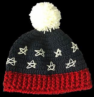 bd27f56e3ee029 Ravelry: USA Stars Beanie Hat pattern by Dr. Debby Telfer