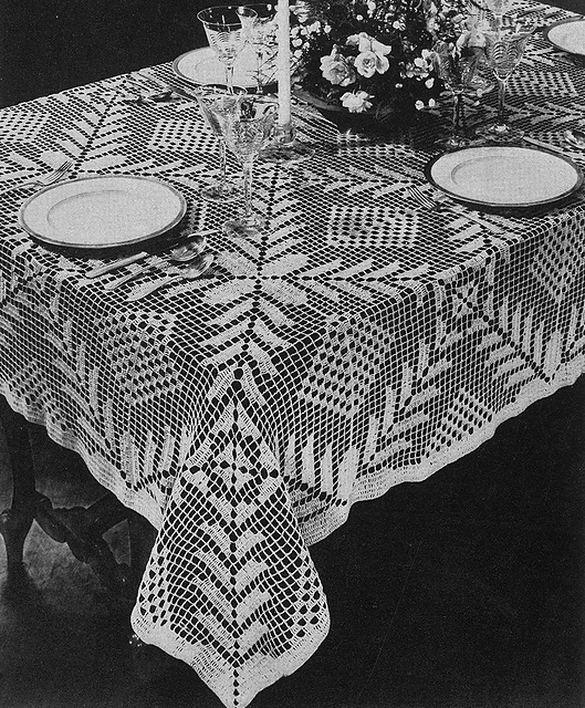Ravelry Square A Day Tablecloth 7067 Pattern By The Spool Cotton