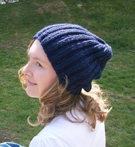 Ravelry Easy Ribbed Slouch Hat Pattern By Debs Harding