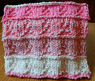 Breast Cancer Dishcloth Knitting Pattern : Ravelry: Breast Cancer Awareness Ribbon Cloth pattern by Denae Merrill