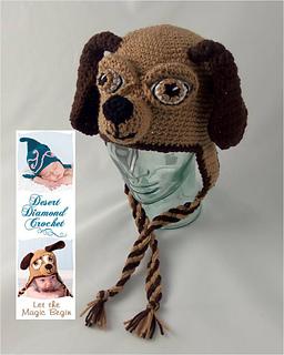 Ravelry  076 Long Ear Puppy Hat pattern by Desert Diamond Crochet 734f5b3cc10