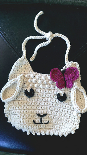 Ravelry Little Lamb Baby Bib Pattern By Kinga Erdem