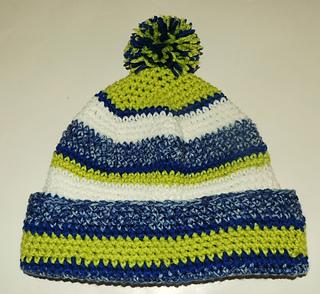 Ravelry Seattle Seahawks Beanie Hat Pattern By Diane Langan