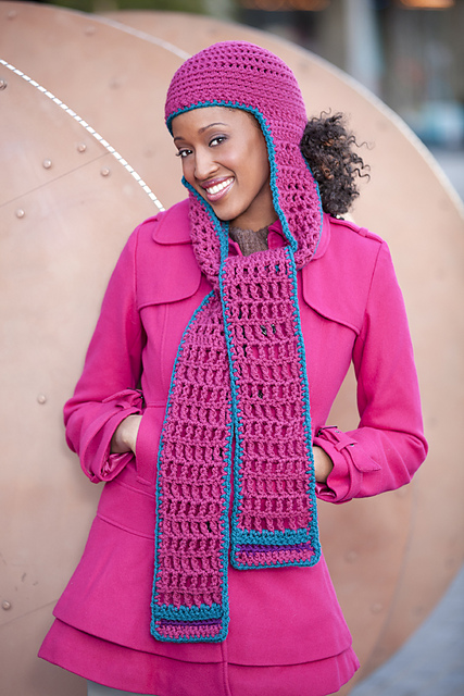 Ravelry: Hooded Scarf pattern by Erika and Monika Simmons