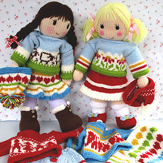 04ce869b9e7db5 Ravelry  Doll Clothes to fit Posy and Betsy dolls pattern by Wendy Phillips