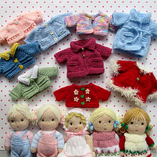 5f15a969296b65 Ravelry  Pretty doll clothes to fit 23cm Dollytime dolls pattern by Wendy  Phillips