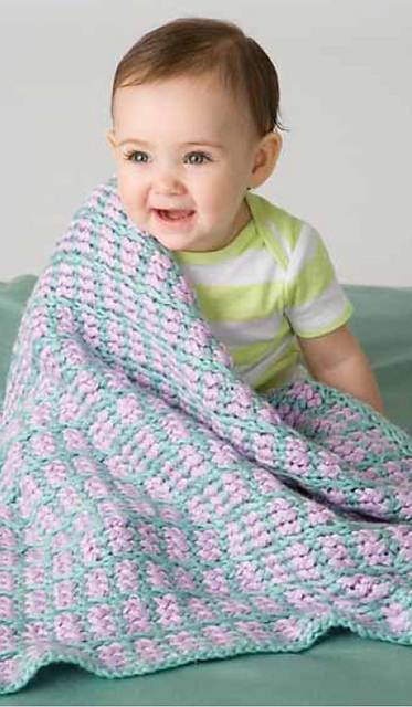 Ravelry Lilac Lullaby Baby Blanket Pattern By Brenda Myers