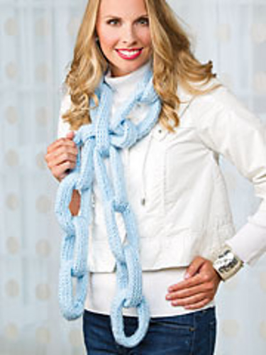 Ravelry Loom Knit Chain Link Scarf Pattern By Brenda Myers