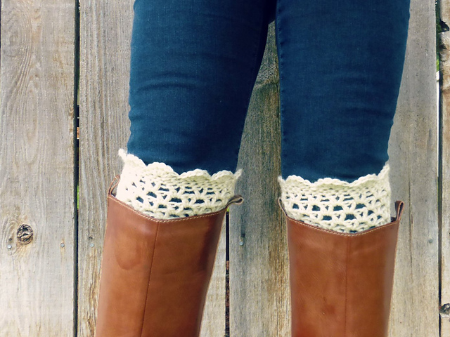 Ravelry Lacy Patterned Boot Cuffs Pattern By Domestic Bliss Squared