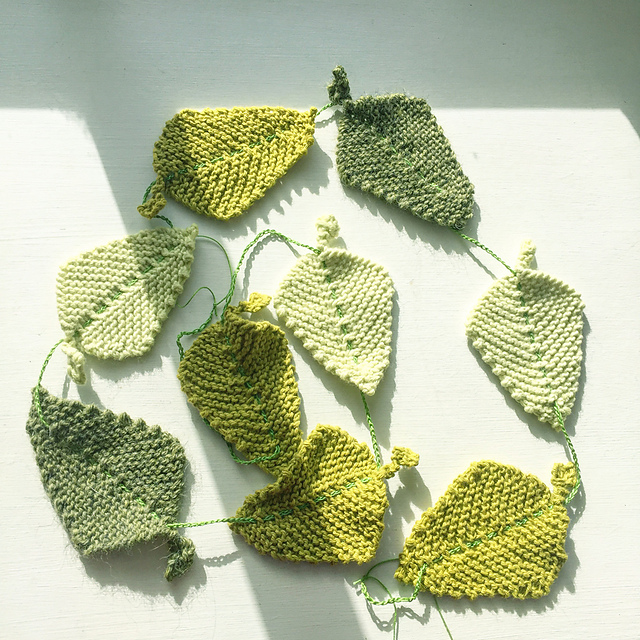 Ravelry Spring Leaf Garland Pattern By Claire Garland