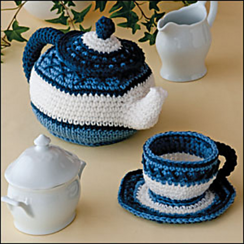 Ravelry Pretty Little Tea Set Pattern By Kim Kotary