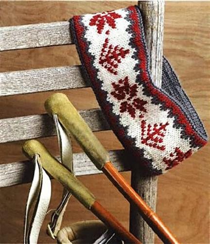 Ravelry A Snowflakerose Ski Headband To Knit Pattern By Donna