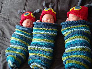 abb062775 Hungry Caterpillar Baby Cocoon and Hat pattern by Angie Hartley