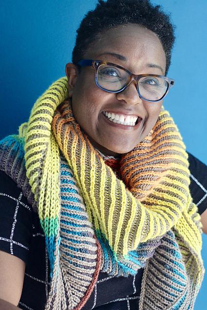 Ravelry member dwj1978 in a scarf