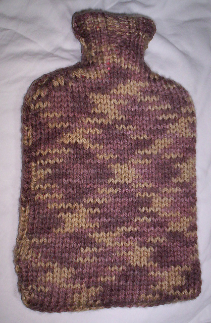 Ravelry Plain And Simple Hot Water Bottle Cover Pattern By Amy Pickard
