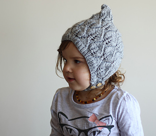 761ae794bab8 Ravelry  Leaf Lace Pixie Bonnet pattern by Agnese Iskrova