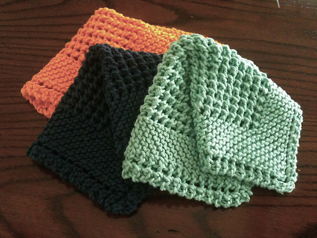 Ravelry Diagonal Knit Dishcloth Pattern By Jana Trent