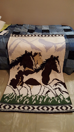 Ravelry Wild Horses Afghan Pattern By Mary Maxim
