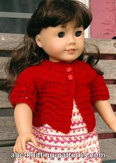 ea8557fb5daff Ravelry  American Girl Doll Hamptons Summer Cardigan pattern by ...
