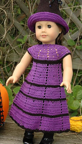 Ravelry American Girl Doll Witchs Dress Pattern By Elaine Phillips