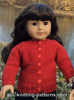 c57ea2ad6 Ravelry  American Girl Doll Winter Nights Cardigan pattern by Elaine ...
