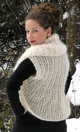 Ravelry Reversible Lace Shrug With Contour Shaping Pattern By Elann