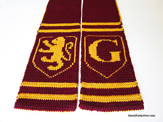 907fb064df4 Gryffindor Spirit Scarf pattern by Lisa Hannan Fox