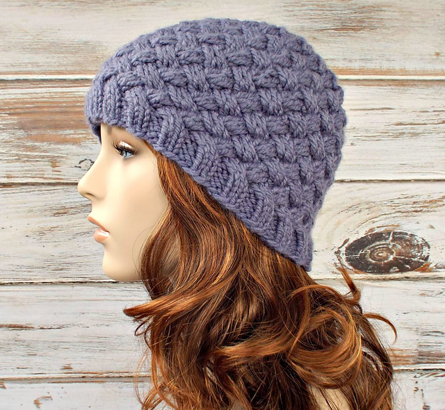 Ravelry harlow diagonal basket weave beanie pattern by diane serviss dt1010fo