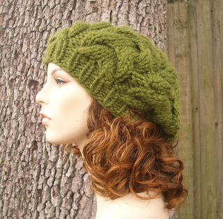 Ravelry  The Horseshoe Cable Beret pattern by Diane Serviss fafd21b9463