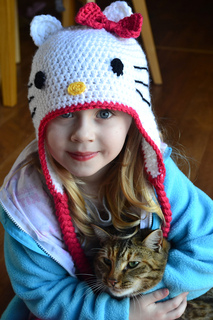 Hello Kitty Hat Pattern By Elizabeth Pardue Ravelry