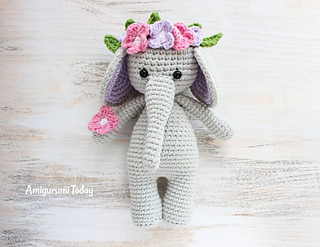 Amigurumi Elephant Pattern : Ravelry: cuddle me elephant pattern by amigurumi today