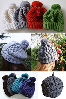 ravelry ebook 5 bonnets pattern by elodie wegeler. Black Bedroom Furniture Sets. Home Design Ideas