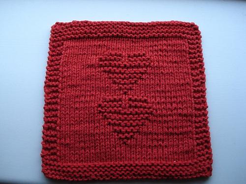 Ravelry Knit Valentine Dishcloth Pattern By Melissa Bergland Burnham