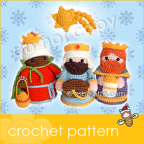 Ravelry Nativity Set Three Wise Men Pattern By Barbara Strasser