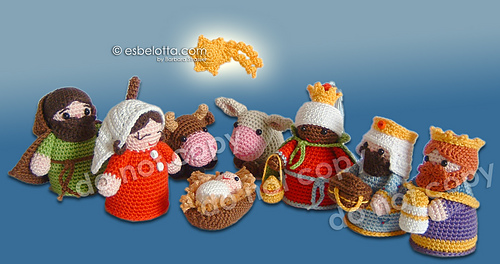 Free Amigurumi Nativity Pattern : Ravelry nativity set holy family pattern by barbara strasser