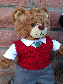 Ravelry Crocheted Vest For Teddy Bears Pattern By